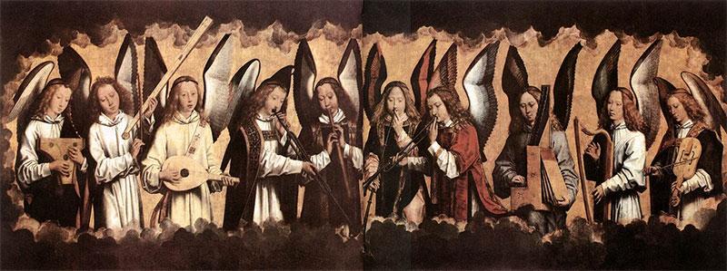 Angel Musicians, Hans Memling c.1485