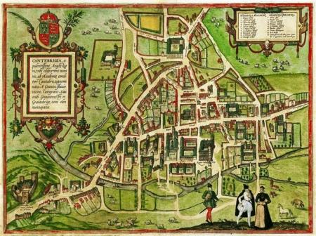 Map of Cambridge 1575