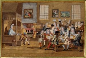 Coffeehouse, London c.1700: