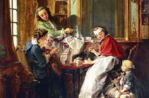 A Musical Tea Party - Mid 18th century: