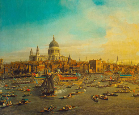 St Paul's Cathedral & the River Thames, Canaletto, c.1745