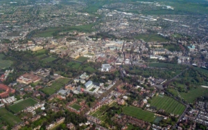 Cambridge aerial view