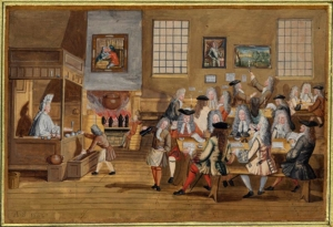 Coffeehouse, London c.1700: