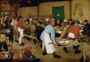 'Peasant Wedding', Pieter Bruegel the Elder, c.1567