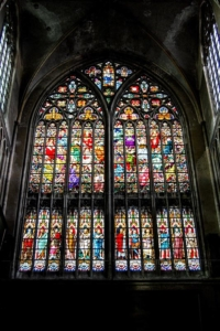 Medieval Stained Glass Window—Sint-Salvator Cathedral